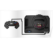 Sega Mega Drive - a true pixel classic! Poster
