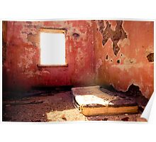 old matress, abandoned room Poster
