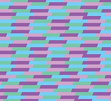 Pastel Geometric Pattern by rebeccamangano