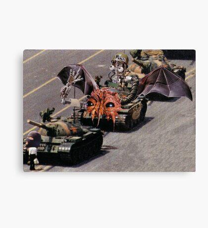 """Tiananmen Robots.........alternate reality distortion"" Canvas Print"