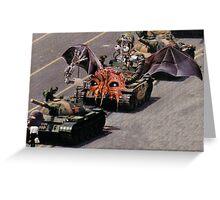 """Tiananmen Robots.........alternate reality distortion"" Greeting Card"