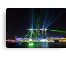 Singapore Light Show Canvas Print