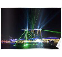 Singapore Light Show Poster