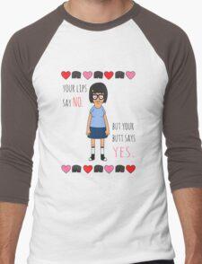 Your Butt Says Yes Men's Baseball ¾ T-Shirt