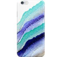 AQUA BLUE TO GOLD iPhone Case/Skin