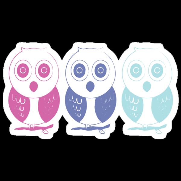 Pastel owl stamp  by teegs