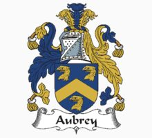 Coat of arms (family crest) for last-name or surname Aubrey . Heraldry banner for your name. by rita24
