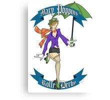 Poppins Roller Derby Canvas Print
