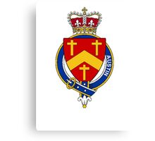 Coat of arms (family crest) for last-name or surname Austin (England) . Heraldry banner for your name. Canvas Print