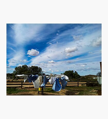 Drying the Clothes - Tibooburra Photographic Print