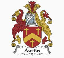 Coat of arms (family crest) for last-name or surname Austin . Heraldry banner for your name. by rita24