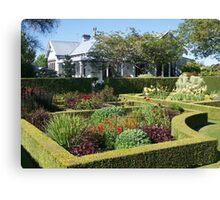 Upton Oaks, Garden, Blenheim,NZ. Canvas Print