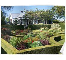Upton Oaks, Garden, Blenheim,NZ. Poster