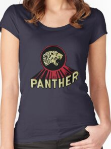 Panther Motorcycle Logo Women's Fitted Scoop T-Shirt