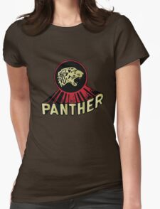 Panther Motorcycle Logo Womens Fitted T-Shirt