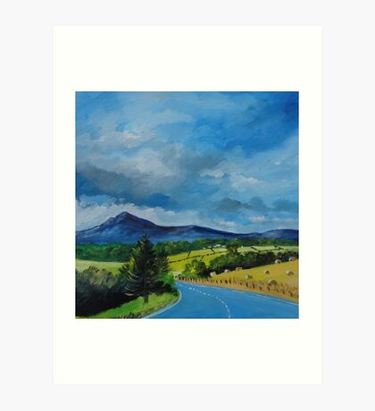 Bennachie from the Tyrebagger Art Print