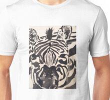 Zebra Striped Brush Strokes Unisex T-Shirt