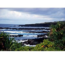 Sea side camping Photographic Print