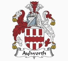 Coat of arms (family crest) for last-name or surname Aylworth . Heraldry banner for your name. by rita24