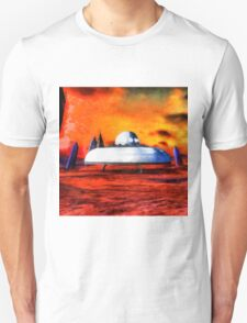 UFO On Ancient Planet by Raphael Terra T-Shirt