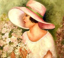 FLAPPER WITH WHITE HAT by Mary  Lawson