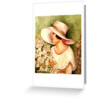 FLAPPER WITH WHITE HAT Greeting Card