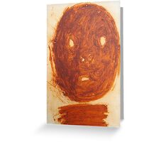 ochre face Greeting Card