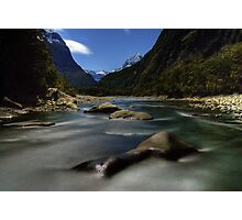 Night Time Photography, Milford Sound Photographic Print