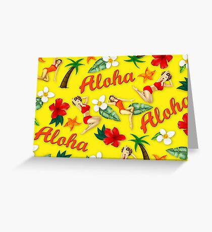 ALOHA HAWAII PIN UP Greeting Card