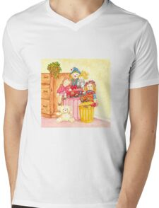 Teddy and Toys Mens V-Neck T-Shirt