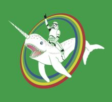 Narwhal Rainbow Stormtrooper Baby Tee