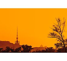 Silhouettes at sunset Photographic Print