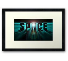 Space effect Framed Print