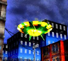 UFO In Your City by Raphael Terra by esotericaart
