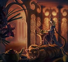 Tiger in the Tea House by CarloReynolds