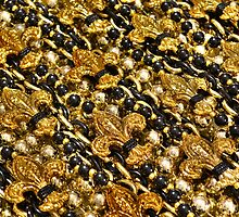 Black and Gold Fleur de Lis Beads by StudioBlack