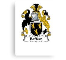 Coat of arms (family crest) for last-name or surname Bafford . Heraldry banner for your name. Canvas Print