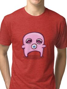Pink Double Screamer Tri-blend T-Shirt