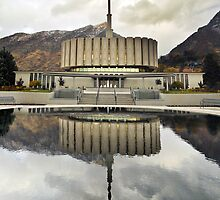 Provo LDS Temple - Reflecting Pool by Ryan Houston