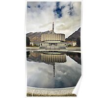 Provo LDS Temple - Reflecting Pool Poster