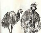 Emu Couple by WoolleyWorld