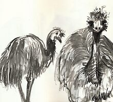 Emu Couple by WoolleyWorld