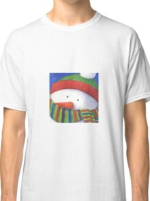 Cute Christmas Snowman with scarf Classic T-Shirt