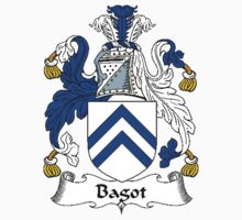 Coat of arms (family crest) for last-name or surname Bagott . Heraldry banner for your name. by rita24