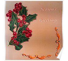 Season's Greetings Holly  Poster