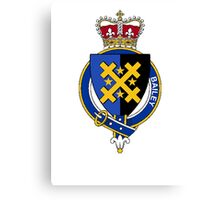 Coat of arms (family crest) for last-name or surname Bailey (England) . Heraldry banner for your name. Canvas Print