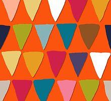 bunting orange by Sharon Turner
