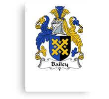 Coat of arms (family crest) for last-name or surname Bailey . Heraldry banner for your name. Canvas Print