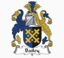 Coat of arms (family crest) for last-name or surname Bailey . Heraldry banner for your name. by rita24