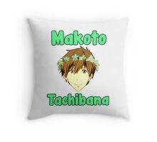 Makoto Tachibana Flower Crown Throw Pillow